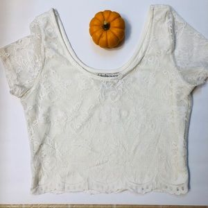 AMERICAN RAG Lace Crop Top